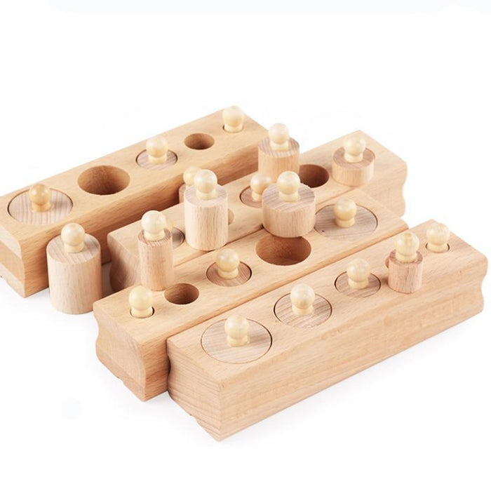 Montessori Knobbed Cylinder Blocks - eBabyZoom