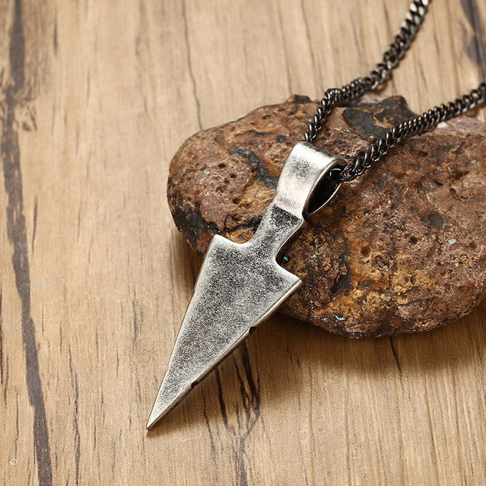 Oxidised Spirit Tribal Spearhead Necklace - eBabyZoom