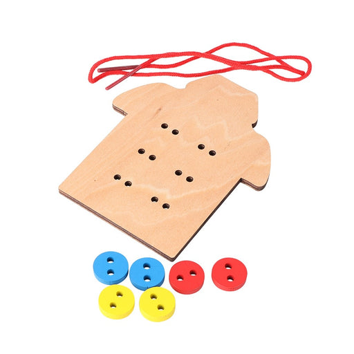 Montessori Learn To Wear Clothes Lacing Board - eBabyZoom