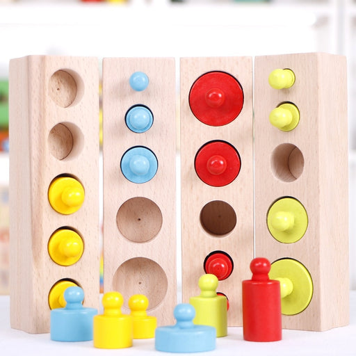 Montessori Colorful Socket Cylinder Block - eBabyZoom