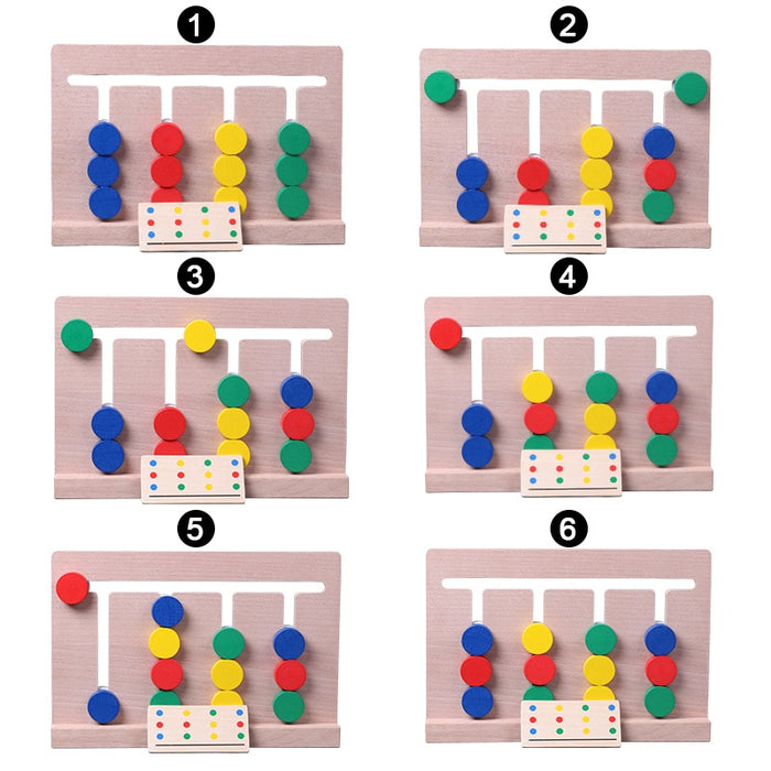 Montessori Logical Reasoning Colors Matching Game - eBabyZoom