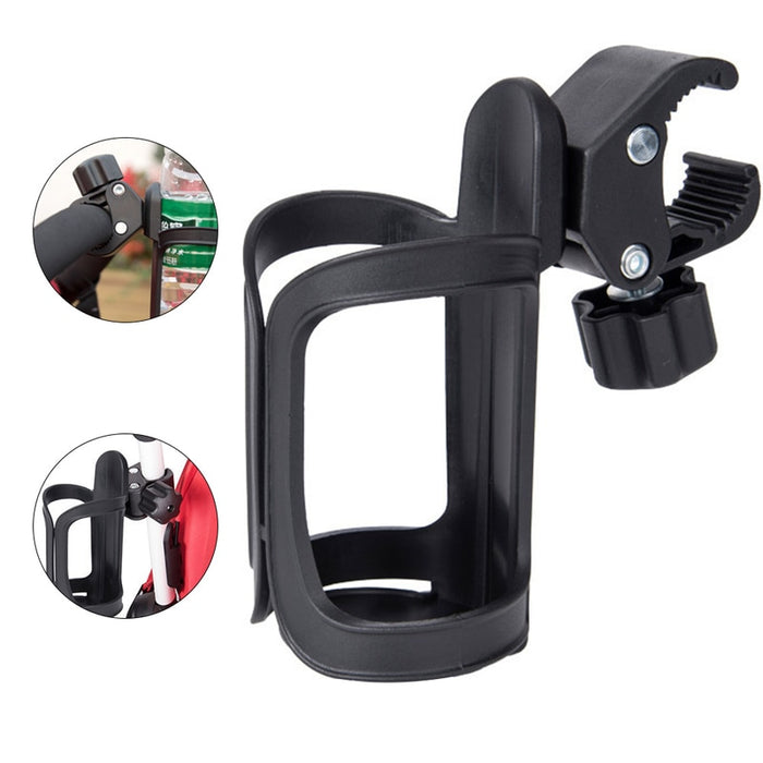 New Baby Stroller Cup Holder Rack Bottle Universal 360 Rotatable Cup Holder for Pram Stroller Carrying Case Milk Bottle Cart - eBabyZoom