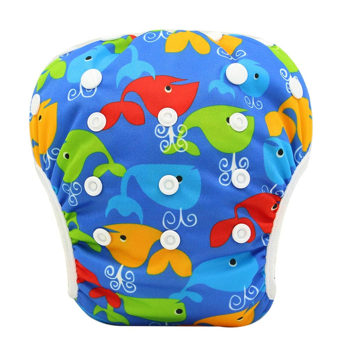 Ohbabyka Baby Swim Diaper Waterproof Adjustable Cloth Diapers Pool Pant Swimming Diaper Cover Reusable Washable Baby Nappies - eBabyZoom