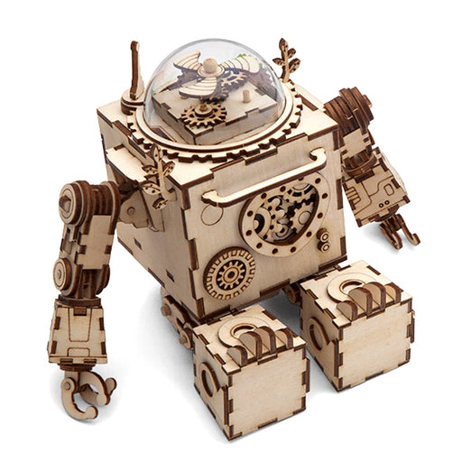 Rotatable Steampunk Robot Music Box