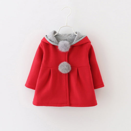 Toddler Rabbit Ear Hoodie Casual Outerwear - eBabyZoom