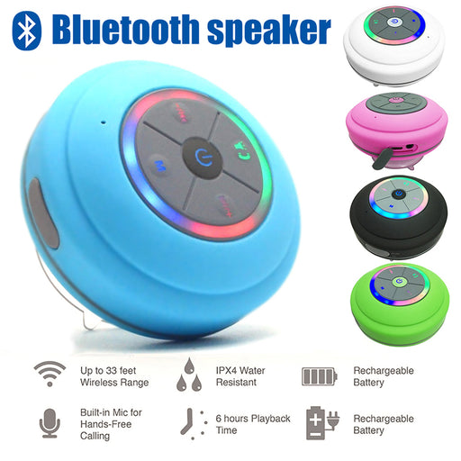 Waterproof Led Bluetooth Shower Speaker