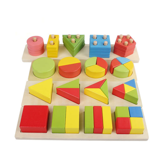 Montessori wooden block Teaching Aids Geometric