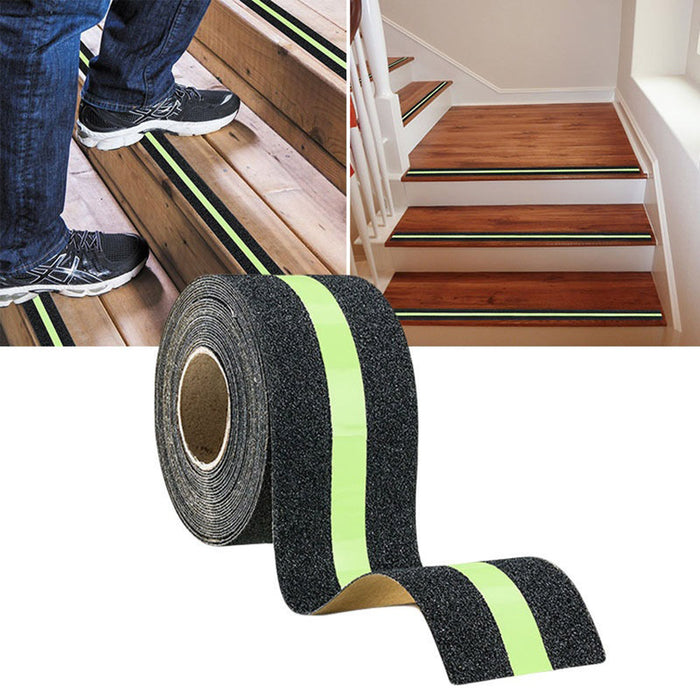 YOLALA Anti-Slip Grip Tape Glow-in-Dark for Local Illumination Improves Grip and Prevents Risk of Slippage on Stairs 5x500cm
