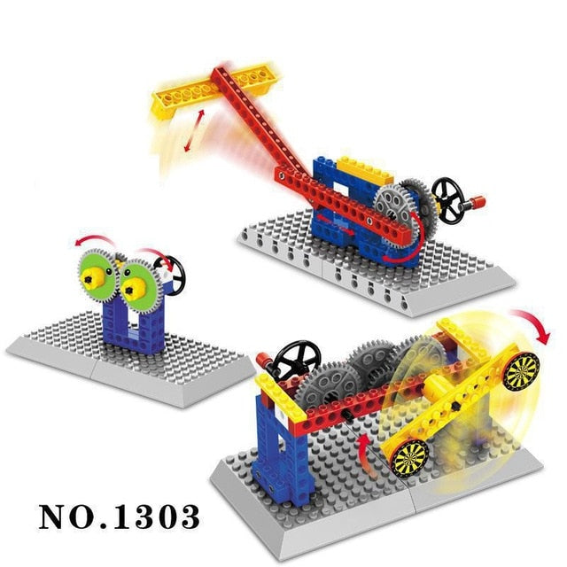 Mechanical Gear Technic Building Blocks