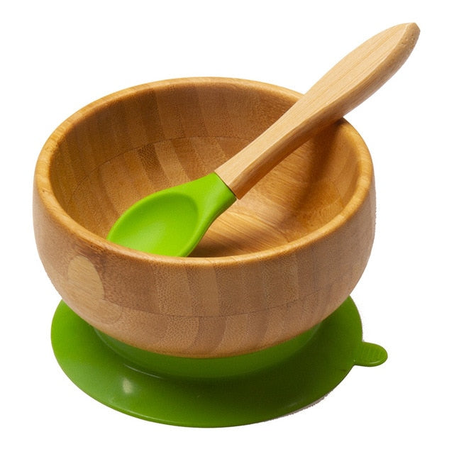 Bamboo Silicone Suction Baby Bowl