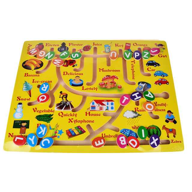 Math and Alphabet Matching Sliding Board - eBabyZoom