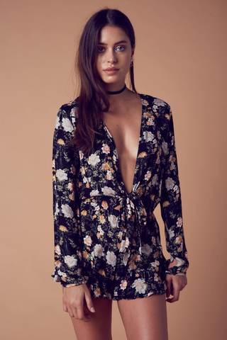 Seeing You Floral Romper