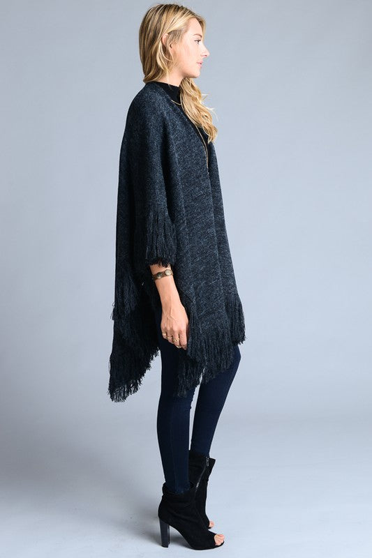 Saleene Poncho Sweater Coat