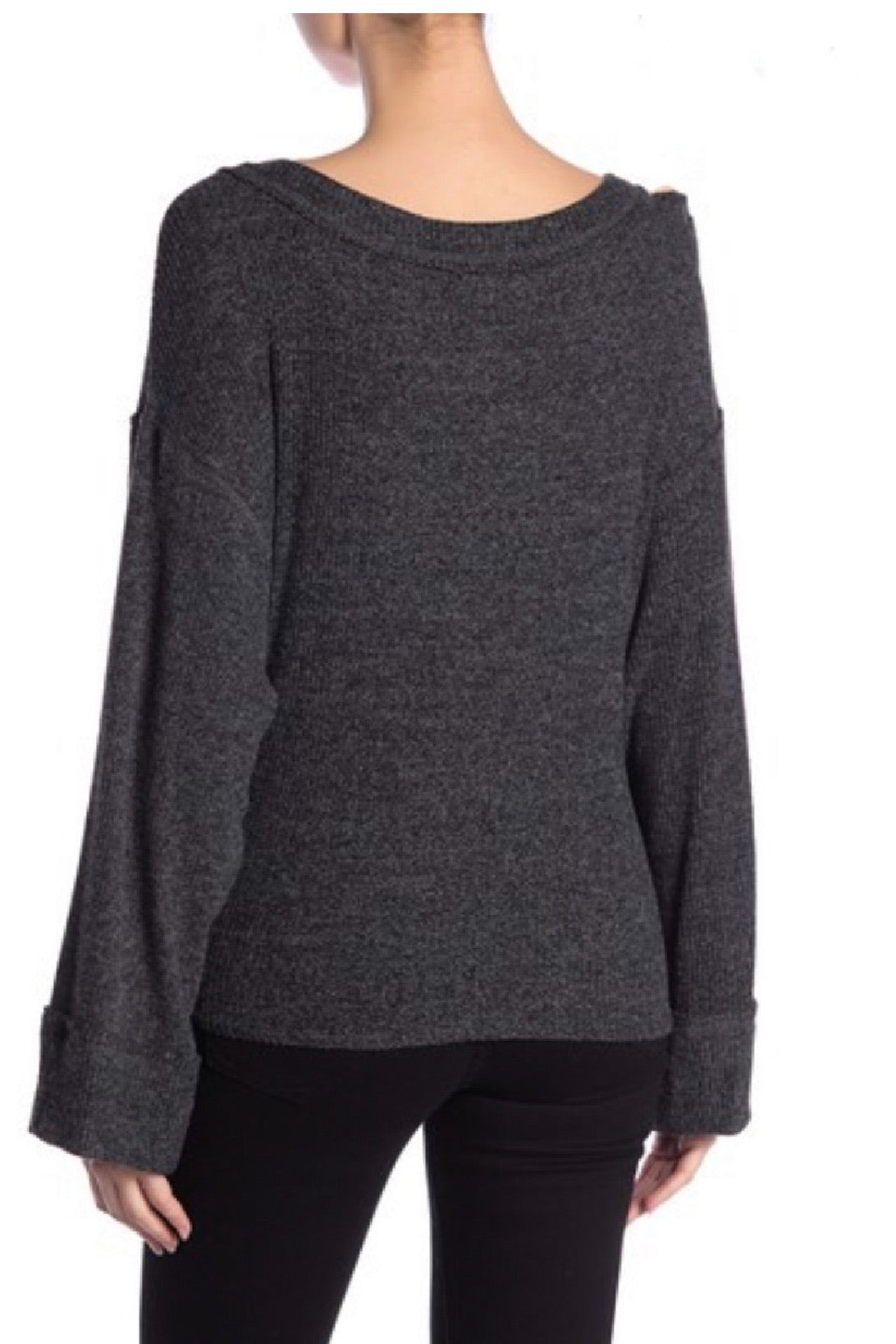 Knot Your Girlfriend Charcoal Knit Top