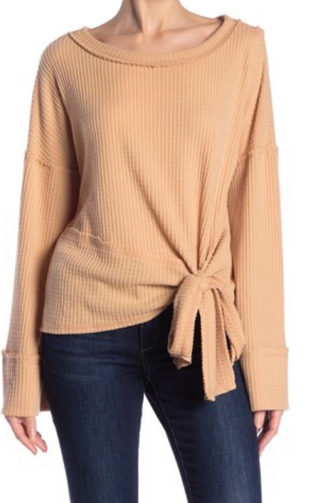 Knot Your Girlfriends Waffle Knit Thermal Too