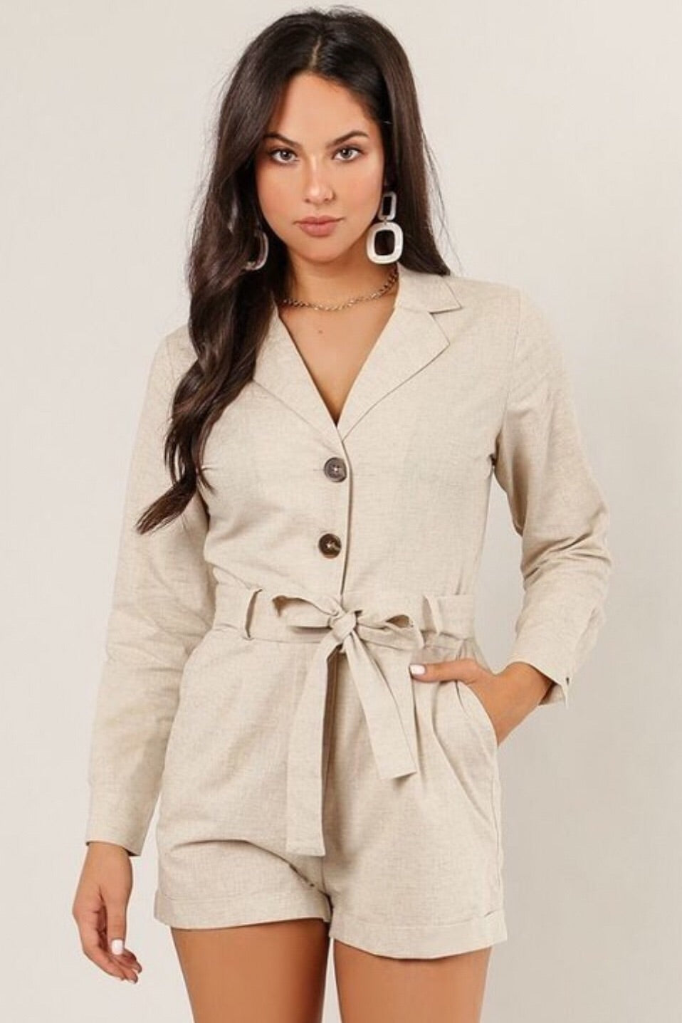 Button It Up Easy Romper