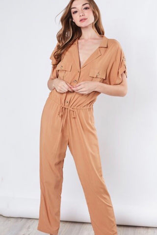 Ruffle Doll Striped Jumpsuit