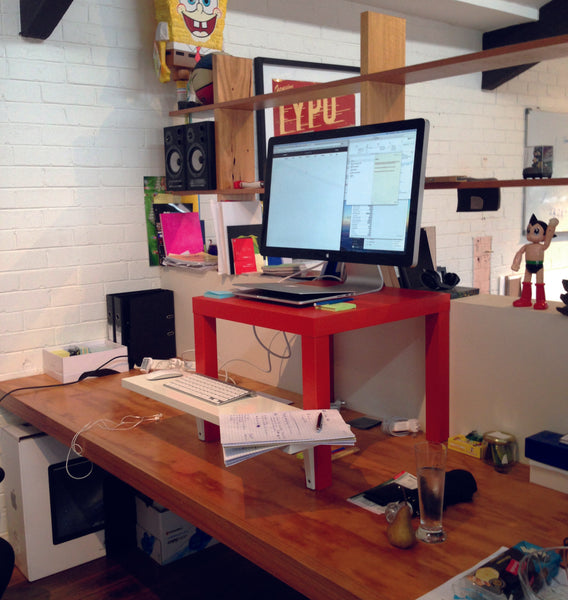 Creating my first standing desk at Uber with Ikea products