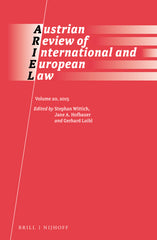 Austrian Review of International and European Law, Volume 20 (2015)