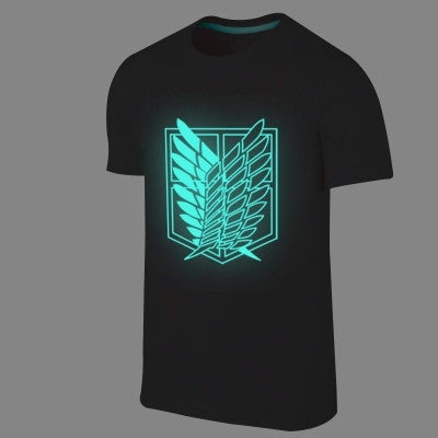 Corps Logos and Characters Glow-in-the-Dark T Shirts - Attack on Titan