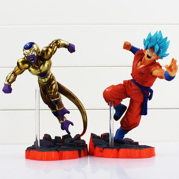 SSG/SSB Goku and Golden Frieza Figurines