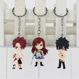 Fairy Tail Key Chain Set - Includes Natsu, Ezra, Lucy, Gray, Happy, Plue