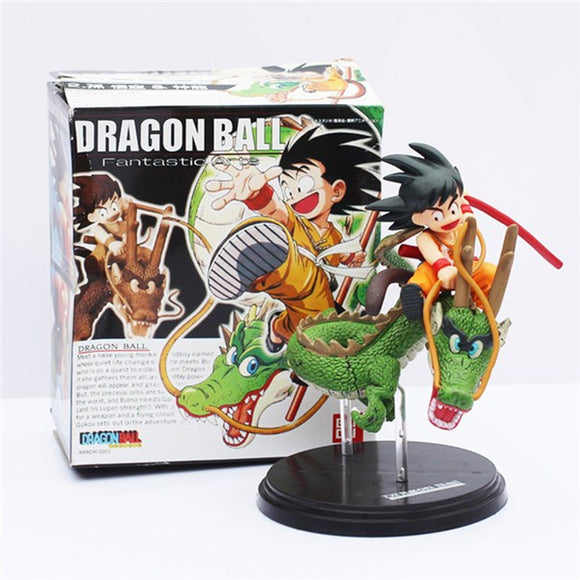 Kid Goku on Dragon Figurine
