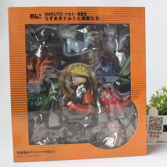 Naruto with the All Nine Tailed Beasts Figurine Set