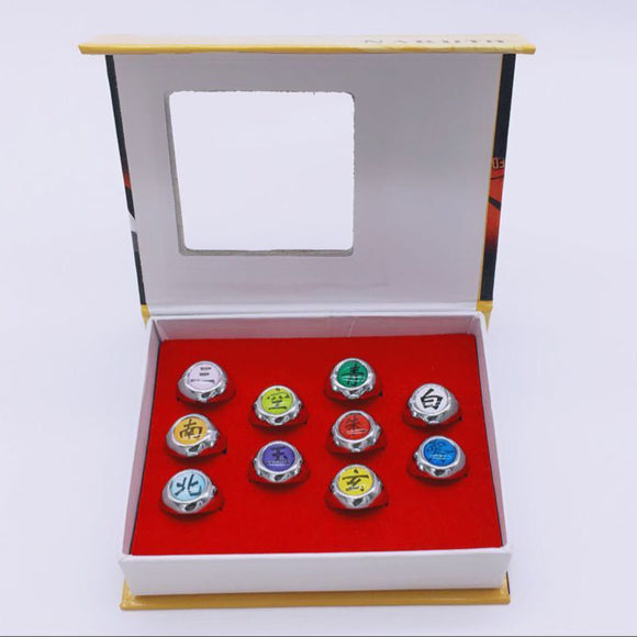 Naruto Akatsuki Ring Set with Adjustable Sizing