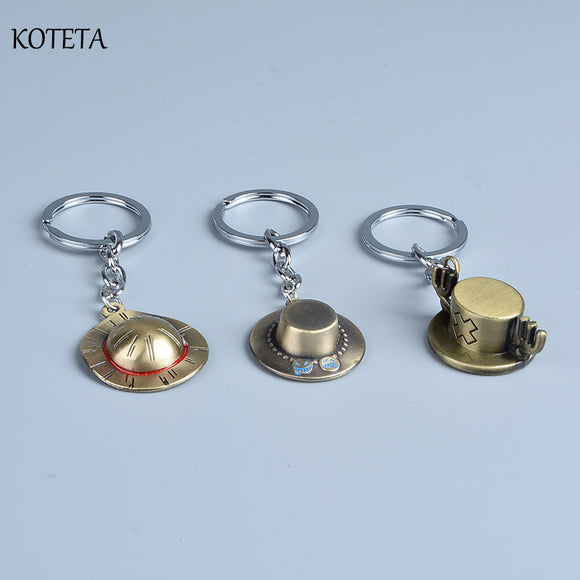 One Piece Hats Key Chains