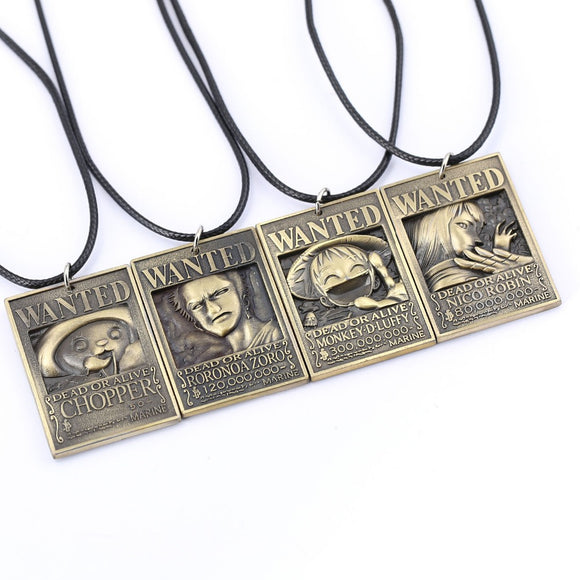 One Piece Wanted Necklaces