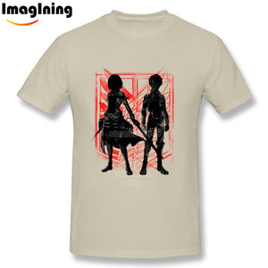 Mikasa and Eren Silhouette T Shirt - Attack on Titan