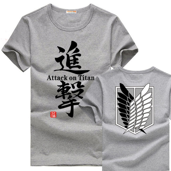 [XHTWCY] Japanese anime t shirt  scouting legion clothes shingeki no kyojin T- shirt  Attack On Titan Giant short-sleeve T-shirt