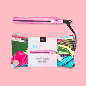 MINI ADVENTURIST FLAT IRON (WITH DESIGNER TRAVEL POUCH)