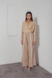 KHAKI WIDE LEG PANTS