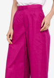 Fuchsia Wide Leg Pants