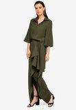Olive Side Draped Skirt