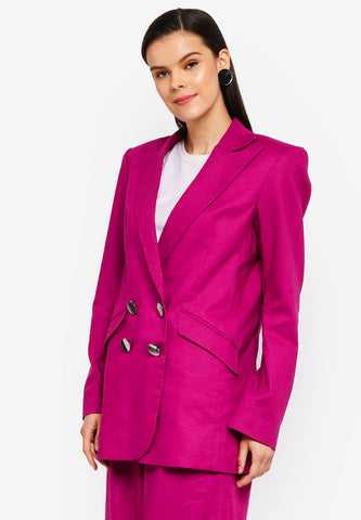 Fuchsia Double Breasted Jacket