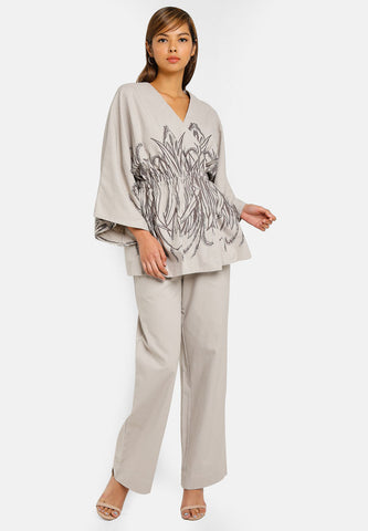 LILY PRINTED PANT SUIT