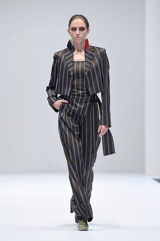 Pinstripe Crop Jacket