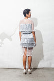 Metallic Plastic Fringe Dress
