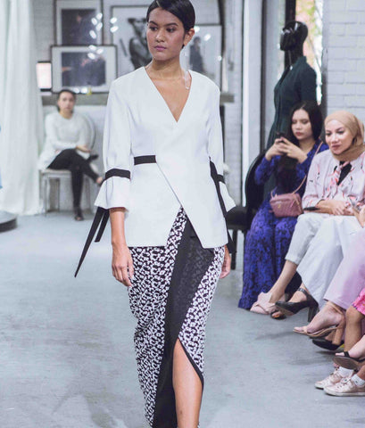 Monochrome Wrap Top