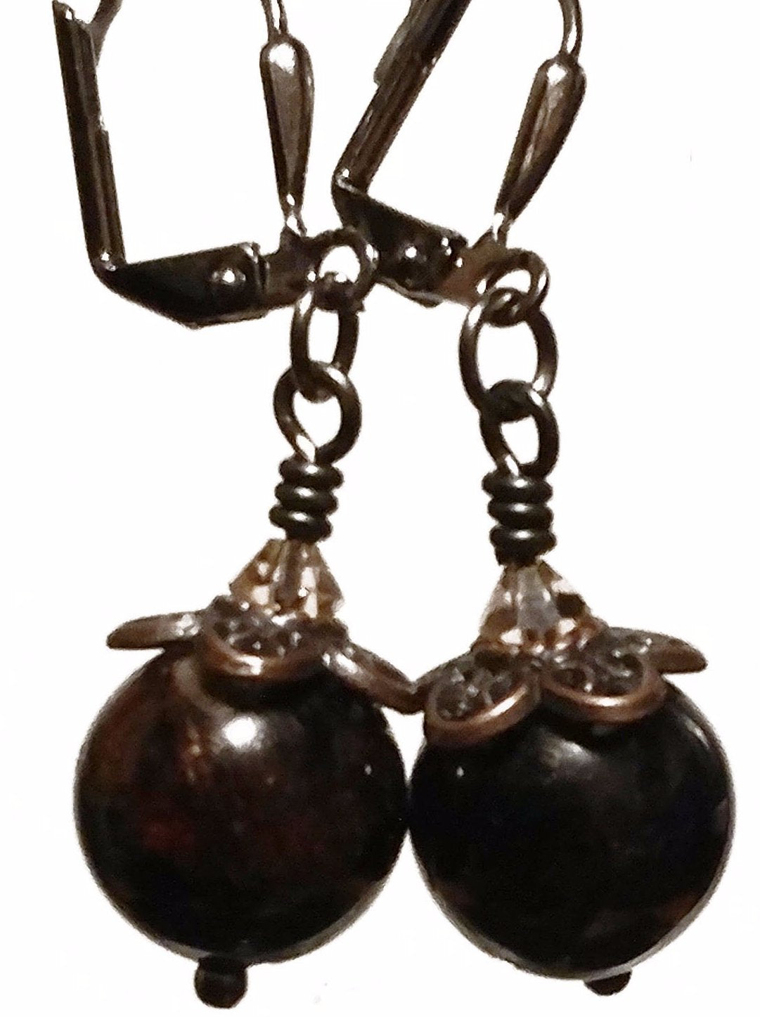 Purple Garnet Earrings - Strange Things Emporium
