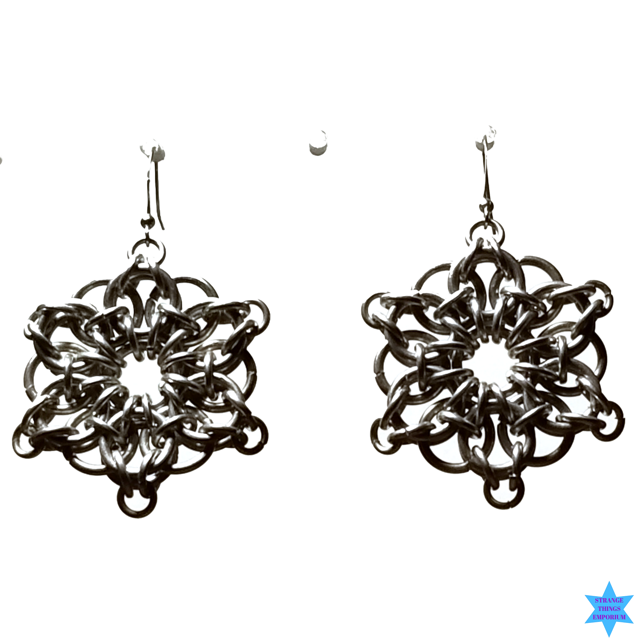 Silver Angora Earrings - Strange Things Emporium
