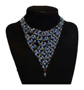 Blue Beaded Triangles - Strange Things Emporium
