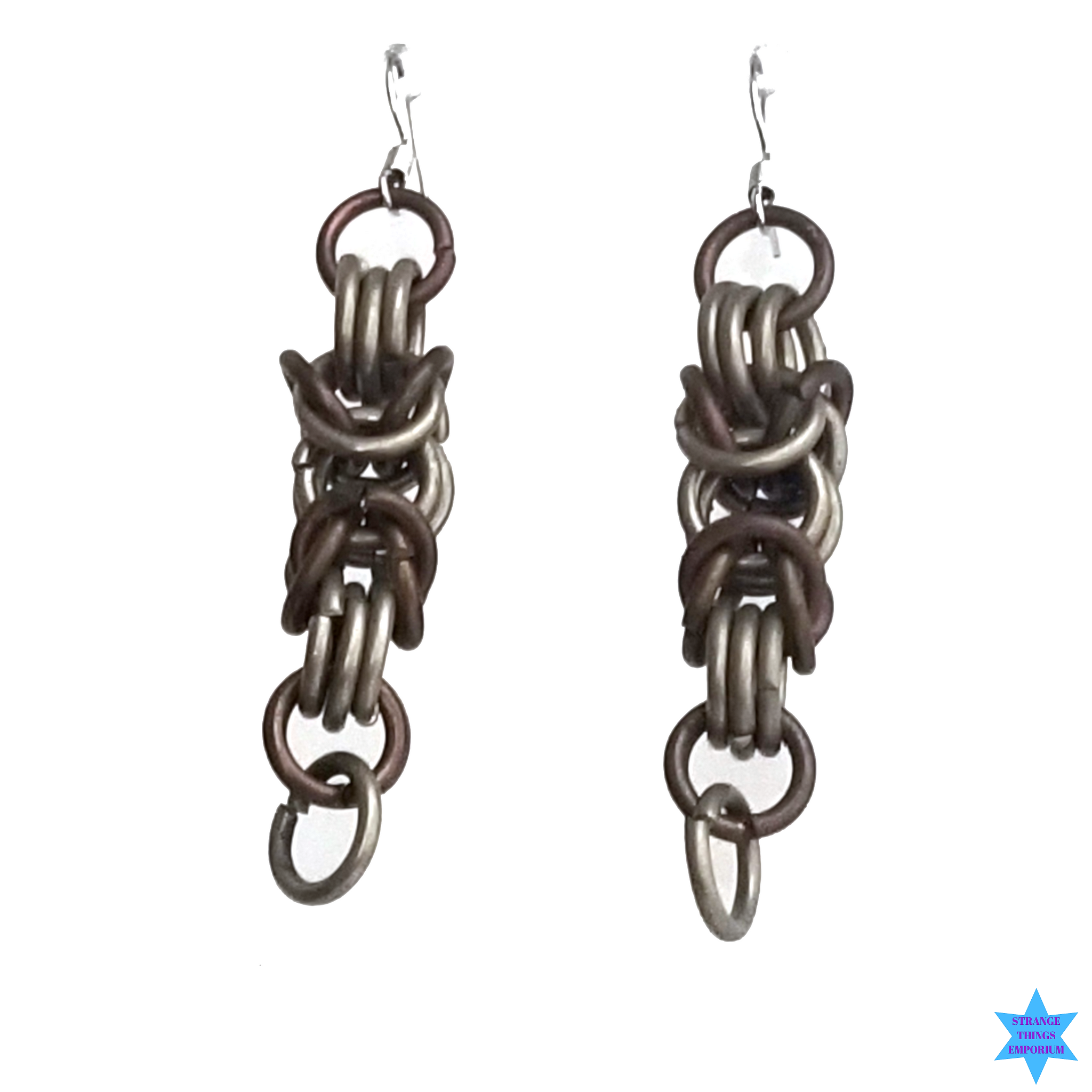 Chain Mail Earrings - Strange Things Emporium