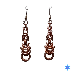 Copper Noose Earrings - Strange Things Emporium