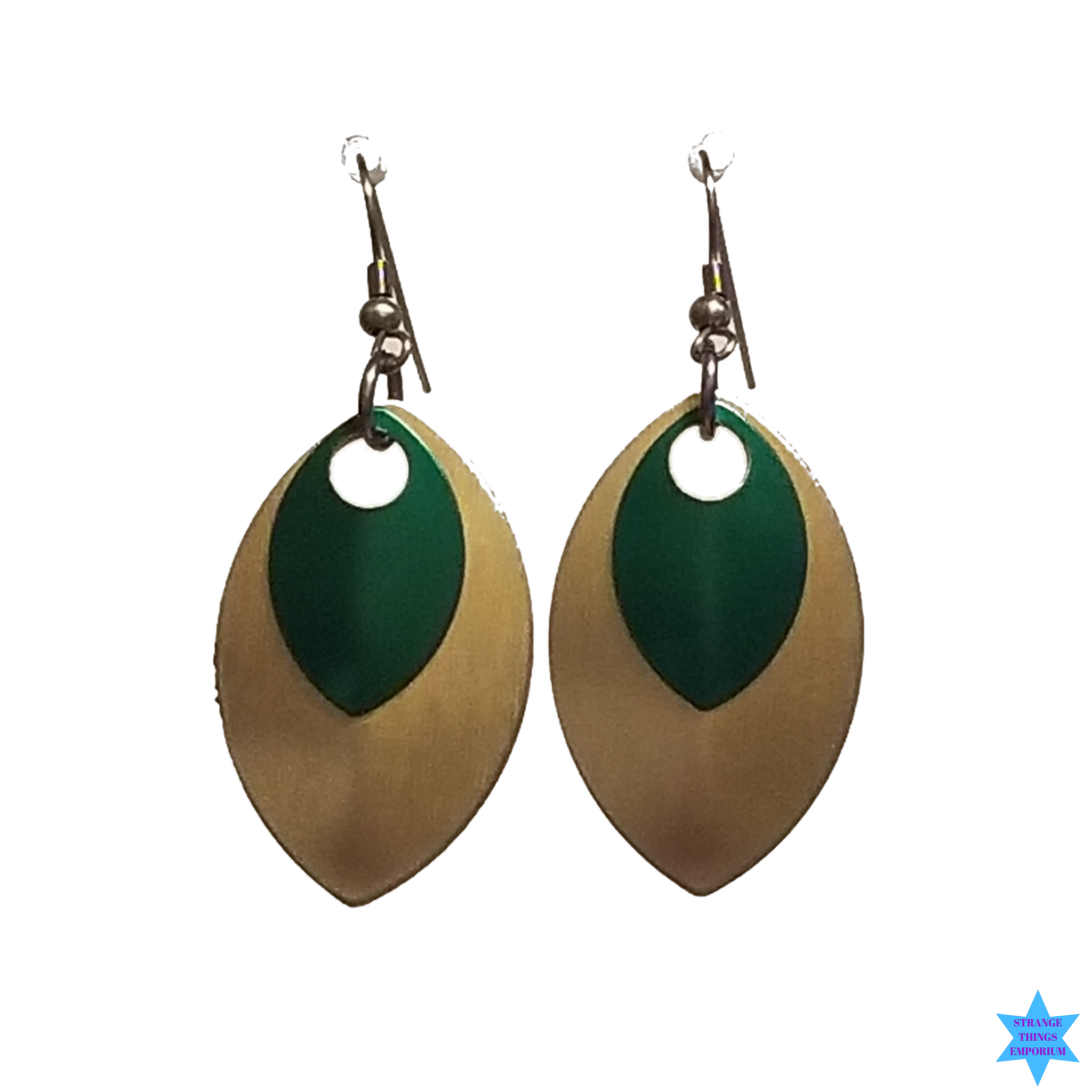Gold Scale Earrings - Strange Things Emporium