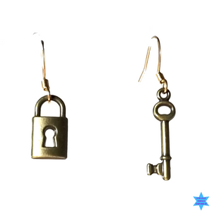 Lock And Key Earrings - Strange Things Emporium