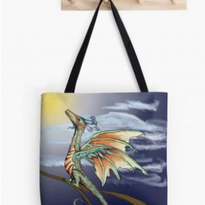 Dragon In Flight Tote Bag - Strange Things Emporium